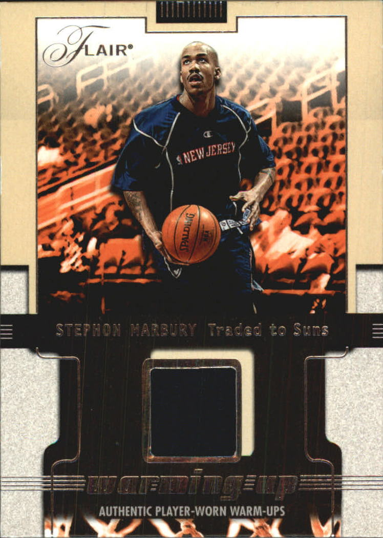 2001-02 Flair Warming Up #13 Stephon Marbury