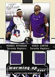 2001-02 Flair Warming Up Dual #8 Morris Peterson/Vince Carter
