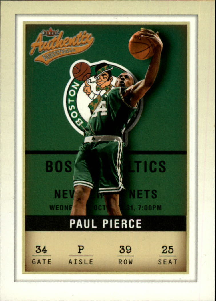 2001-02 Fleer Authentix #39 Paul Pierce