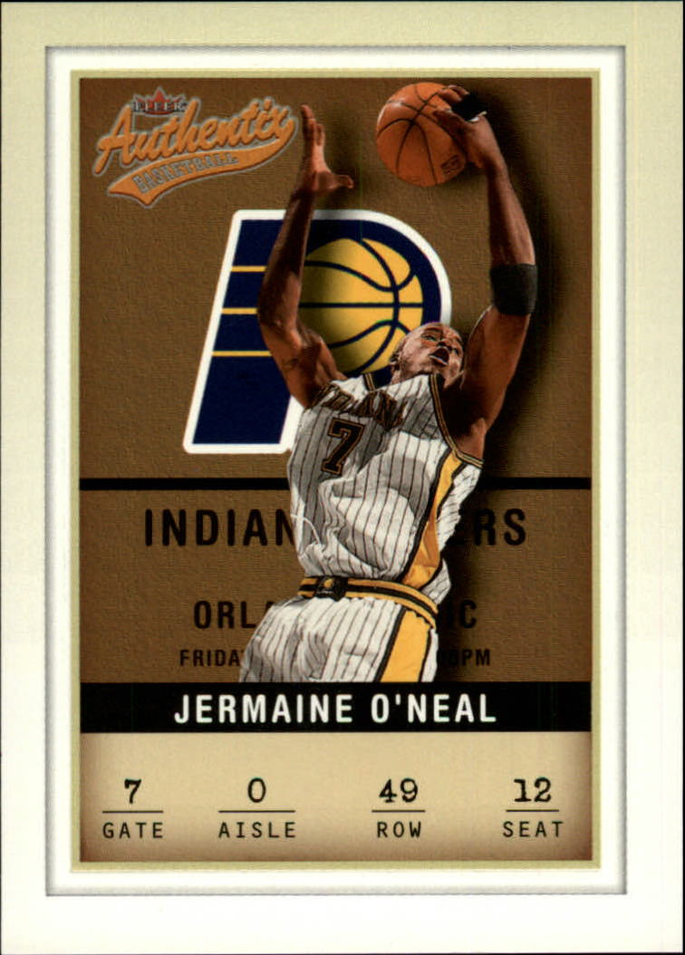 2001-02 Fleer Authentix #49 Jermaine O'Neal