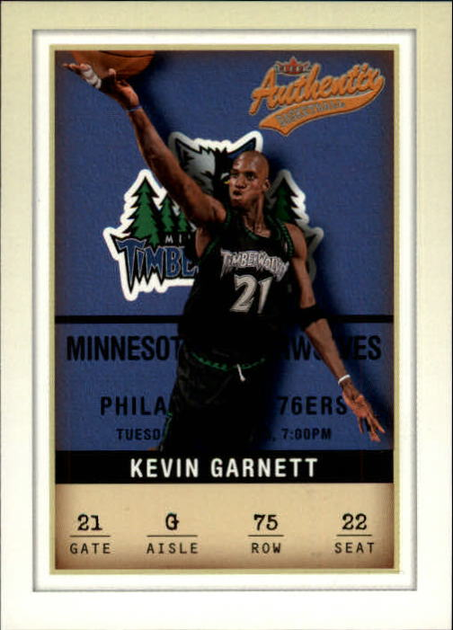 2001-02 Fleer Authentix #75 Kevin Garnett