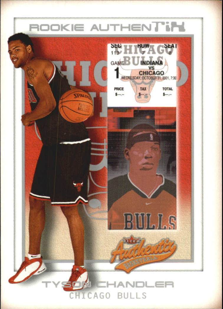 2001-02 Fleer Authentix Front Row Parallel #132 Tyson Chandler