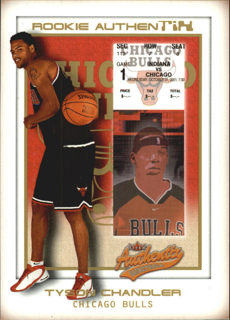 2001-02 Fleer Authentix Second Row Parallel #132 Tyson Chandler