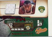 2001-02 Fleer Authentix Jersey Authentix Unripped #5 Rashard Lewis