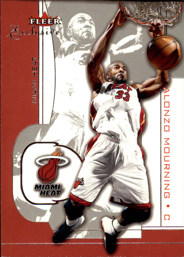 2001-02 Fleer Exclusive #6 Alonzo Mourning