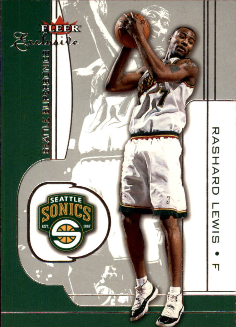 2001-02 Fleer Exclusive #15 Rashard Lewis