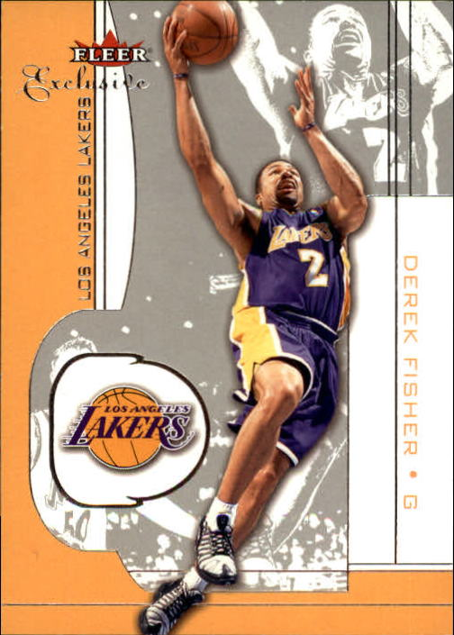 2001-02 Fleer Exclusive #18 Derek Fisher