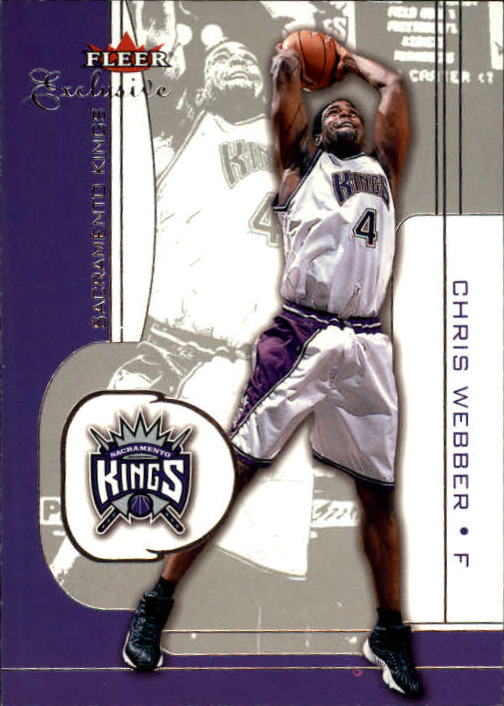 2001-02 Fleer Exclusive #28 Chris Webber