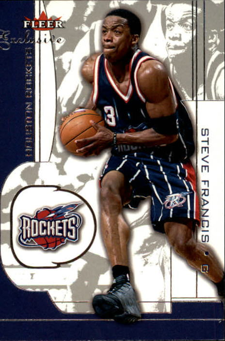 2001-02 Fleer Exclusive #40 Steve Francis