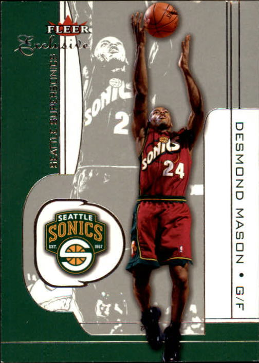 2001-02 Fleer Exclusive #42 Desmond Mason