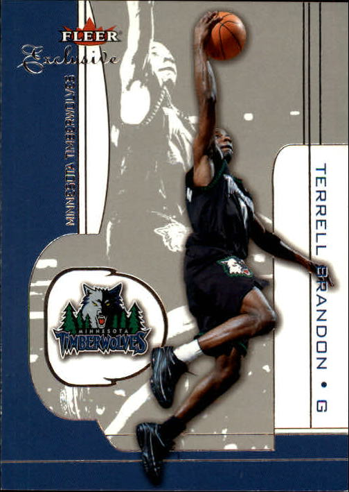 2001-02 Fleer Exclusive #44 Terrell Brandon