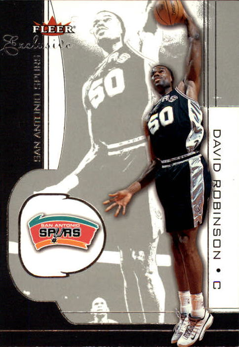 2001-02 Fleer Exclusive #53 David Robinson front image