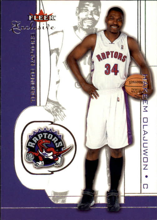 2001-02 Fleer Exclusive #57 Hakeem Olajuwon
