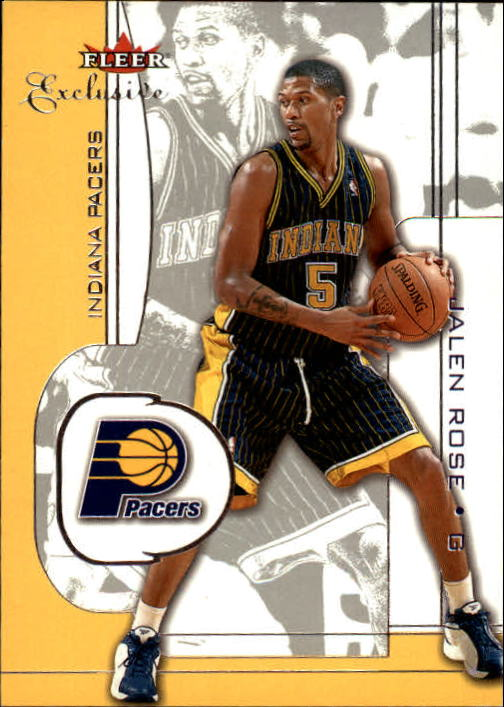 2001-02 Fleer Exclusive #58 Jalen Rose