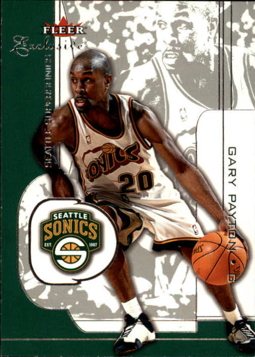 2001-02 Fleer Exclusive #64 Gary Payton