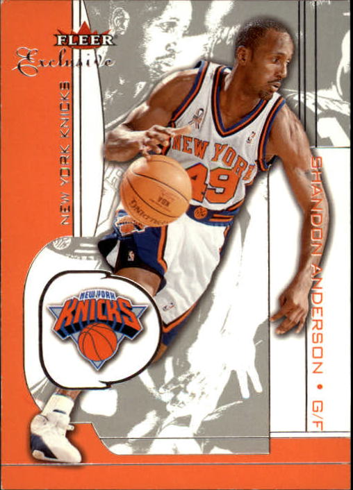 2001-02 Fleer Exclusive #66 Shandon Anderson