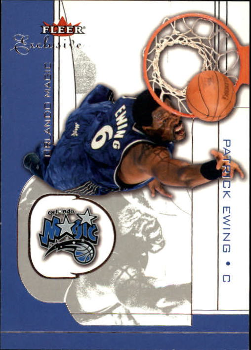 2001-02 Fleer Exclusive #69 Patrick Ewing