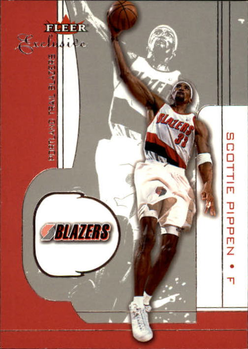 2001-02 Fleer Exclusive #73 Scottie Pippen