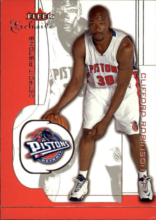 2001-02 Fleer Exclusive #75 Clifford Robinson