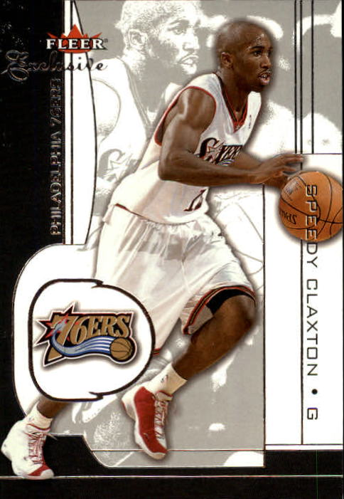 2001-02 Fleer Exclusive #81 Speedy Claxton