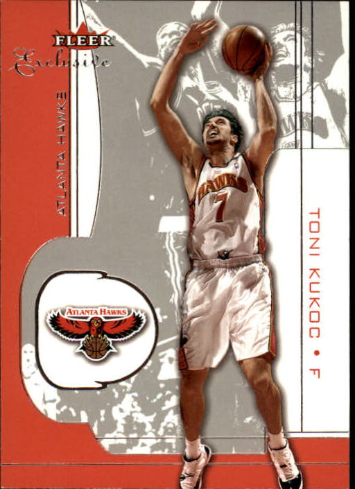 2001-02 Fleer Exclusive #86 Toni Kukoc