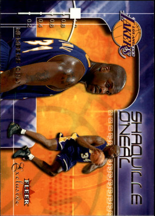 2001-02 Fleer Exclusive #104 Shaquille O'Neal MO