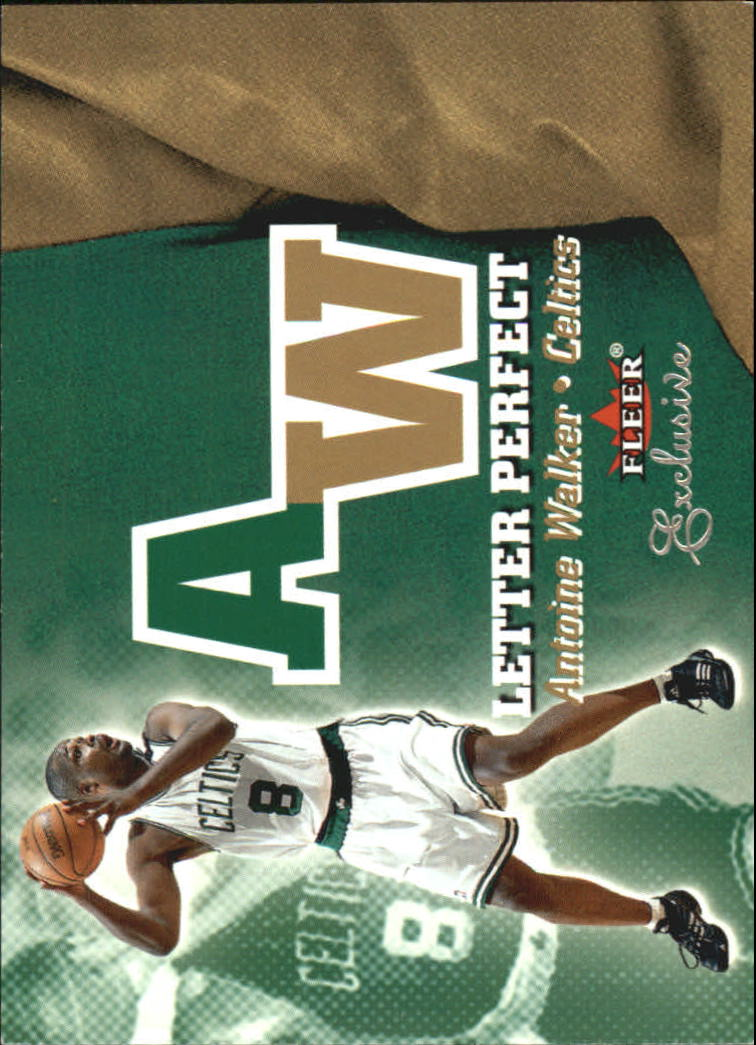 2001-02 Fleer Exclusive Letter Perfect #25 Antoine Walker