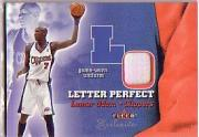 2001-02 Fleer Exclusive Letter Perfect JV #9 Lamar Odom front image