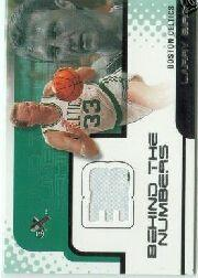 2001-02 E-X Behind the Numbers Jerseys #1 Larry Bird
