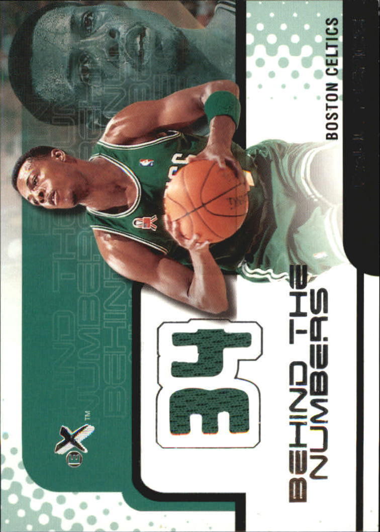 2001-02 E-X Behind the Numbers Jerseys #16 Paul Pierce