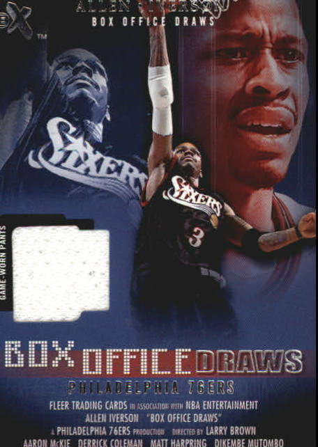 2001-02 E-X Box Office Draws Memorabilia #8 Allen Iverson Shorts