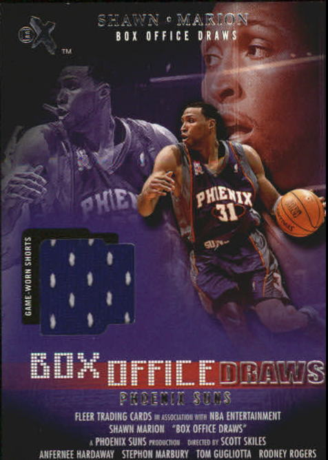2001-02 E-X Box Office Draws Memorabilia #10 Shawn Marion Shorts