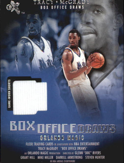 2001-02 E-X Box Office Draws Memorabilia #11 Tracy McGrady Shorts