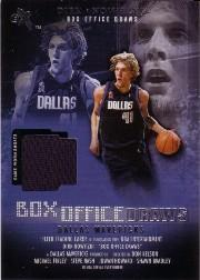 2001-02 E-X Box Office Draws Memorabilia #12 Dirk Nowitzki Shorts