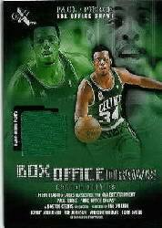 2001-02 E-X Box Office Draws Memorabilia #14 Paul Pierce Warm