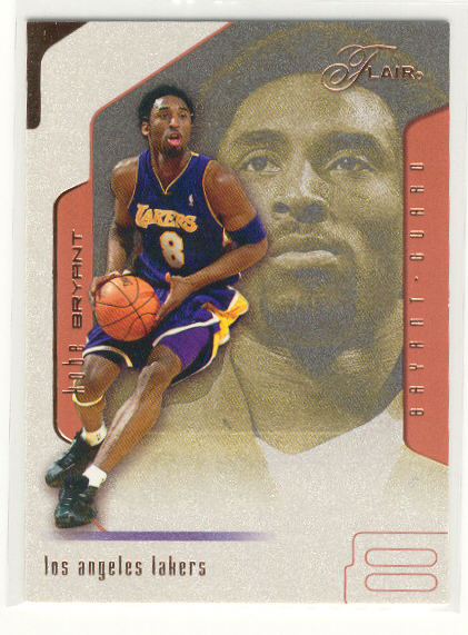 2001-02 Flair #8 Kobe Bryant