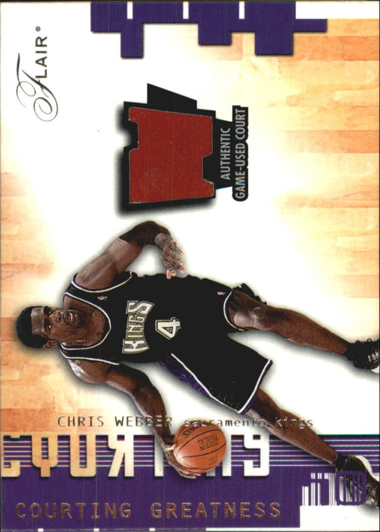 2001-02 Flair Courting Greatness #13 Chris Webber