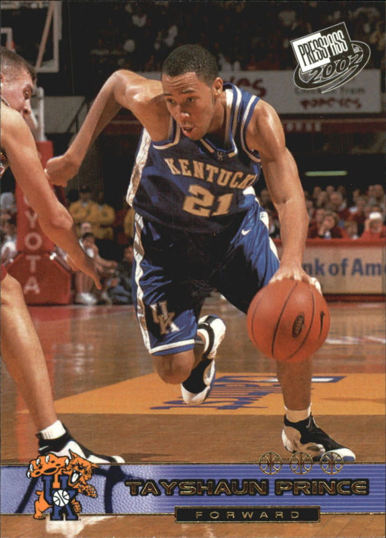 2002 Press Pass Gold Zone #20 Tayshaun Prince