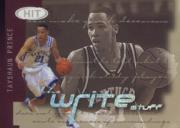 2002 SAGE HIT The Write Stuff #8 Tayshaun Prince