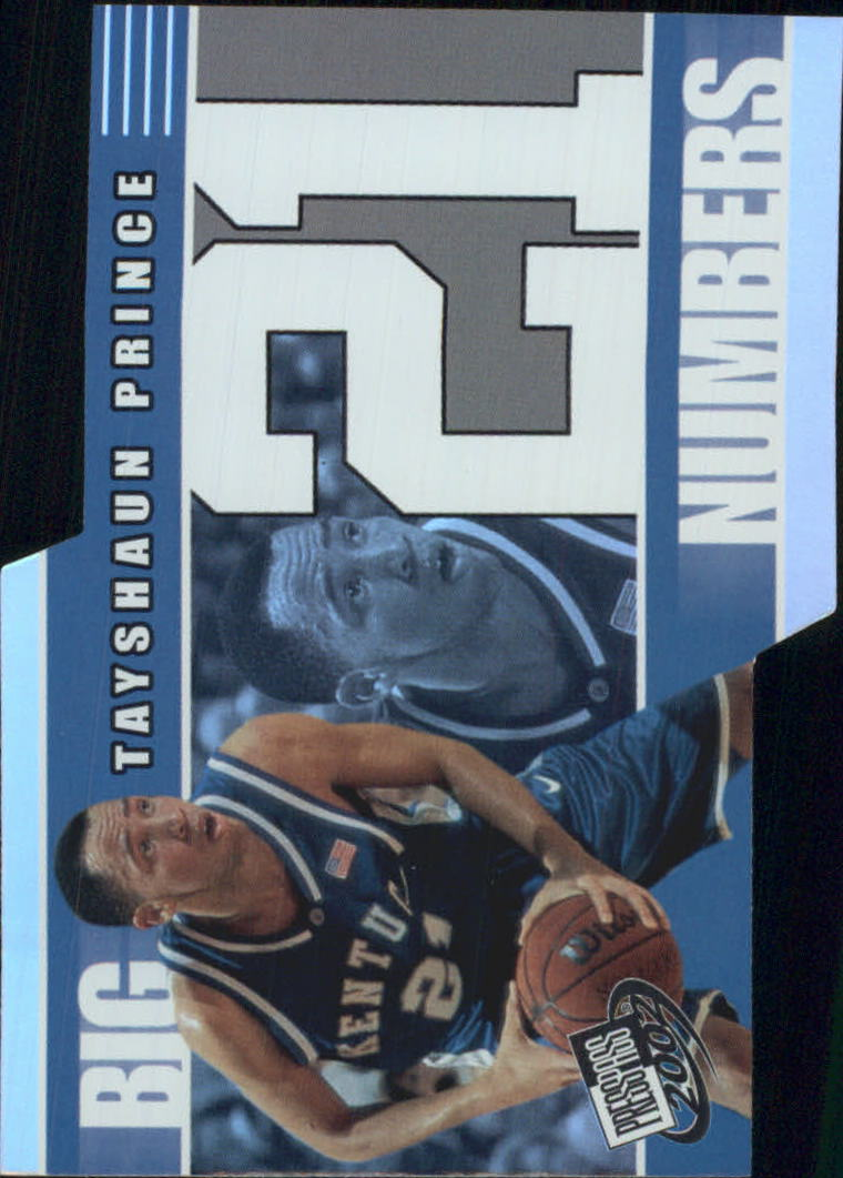 2002 Press Pass Big Numbers #BN17 Tayshaun Prince