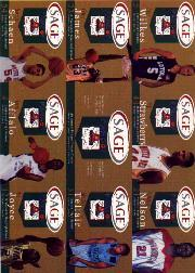 2002 SAGE Pangos Sheets Gold #1 Sheet 1/D.J. Strawberry/Sebastian Telfair/Wesley Washington/DeMarcus Nelson/Header Card/Justin Hawkins/Omar Wilkes/LeBron James/Ekene Ibekwe