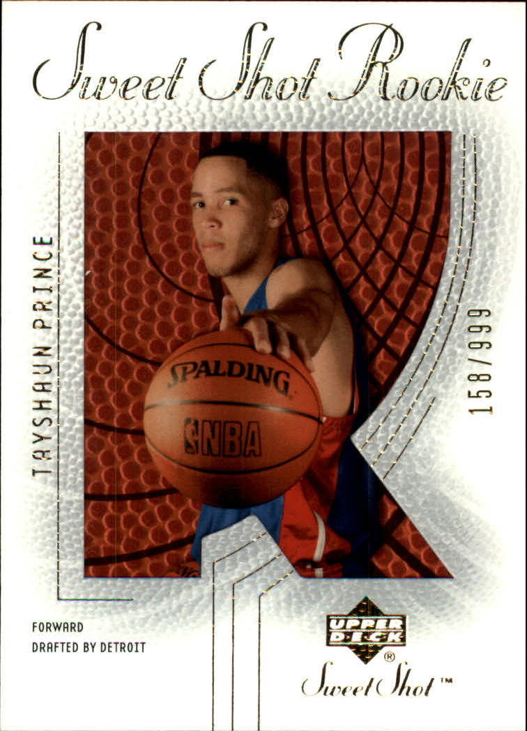 2002-03 Sweet Shot #110 Tayshaun Prince RC