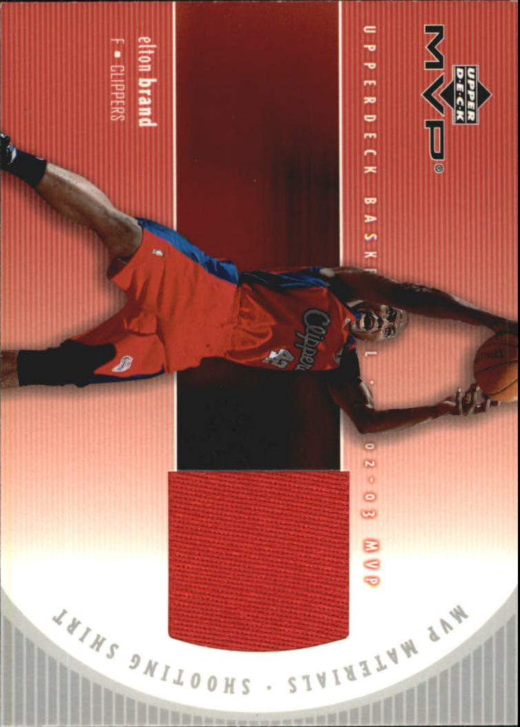 2002-03 Upper Deck MVP Materials Shooting Shirt #EBS Elton Brand