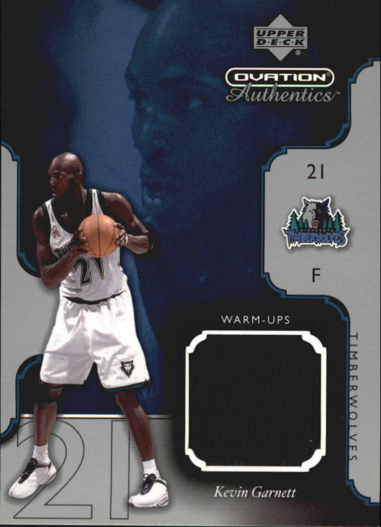 2002-03 Upper Deck Ovation Authentics Warm-Ups #KGW Kevin Garnett