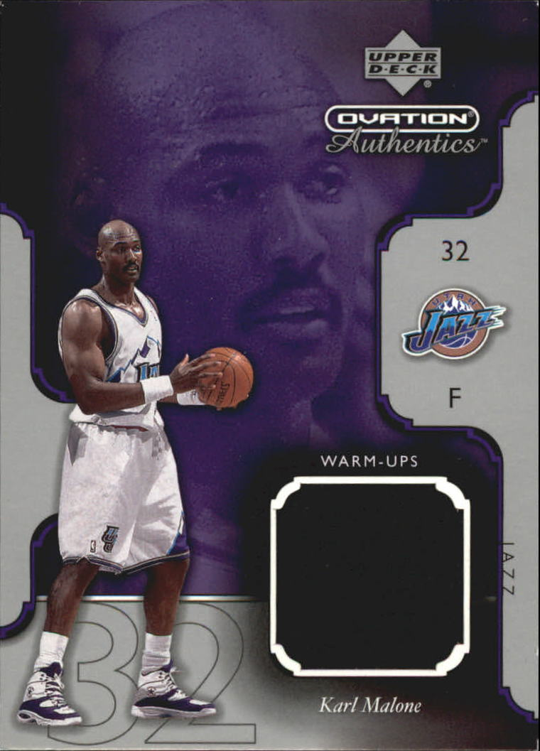 2002-03 Upper Deck Ovation Authentics Warm-Ups #MAW Karl Malone
