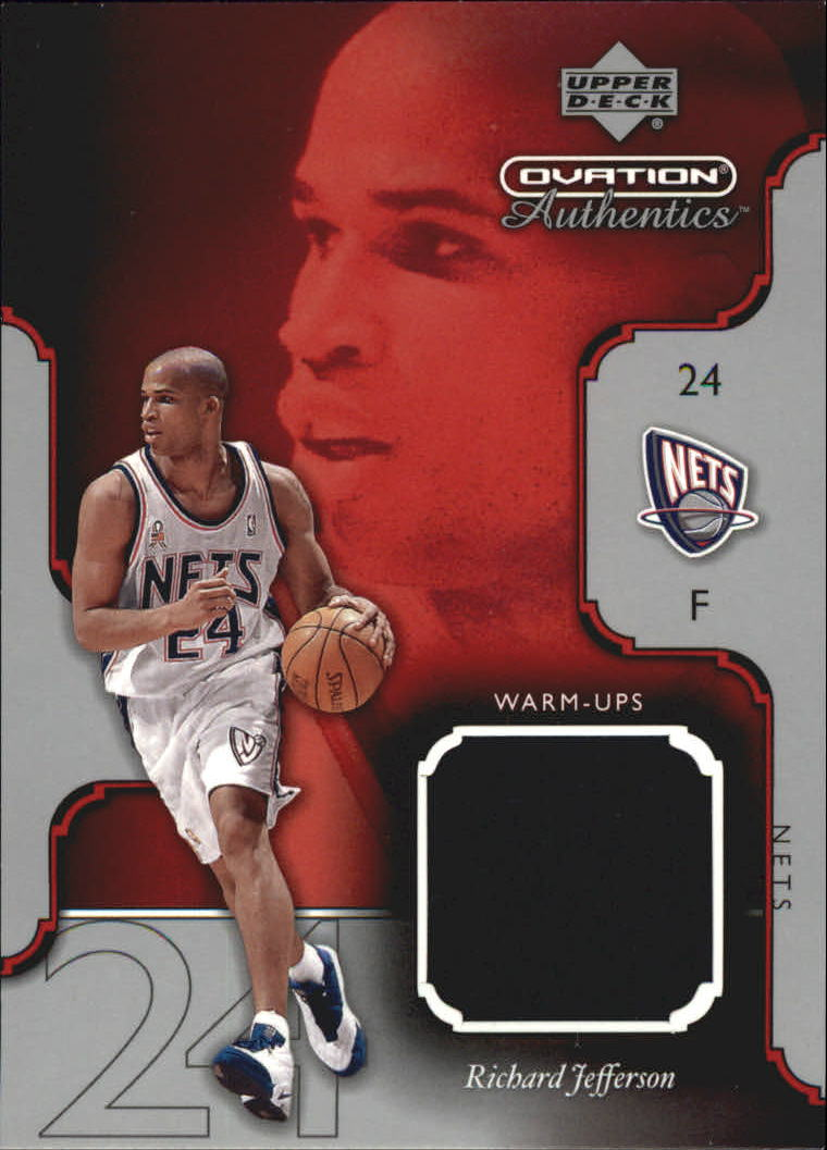 2002-03 Upper Deck Ovation Authentics Warm-Ups #RJW Richard Jefferson