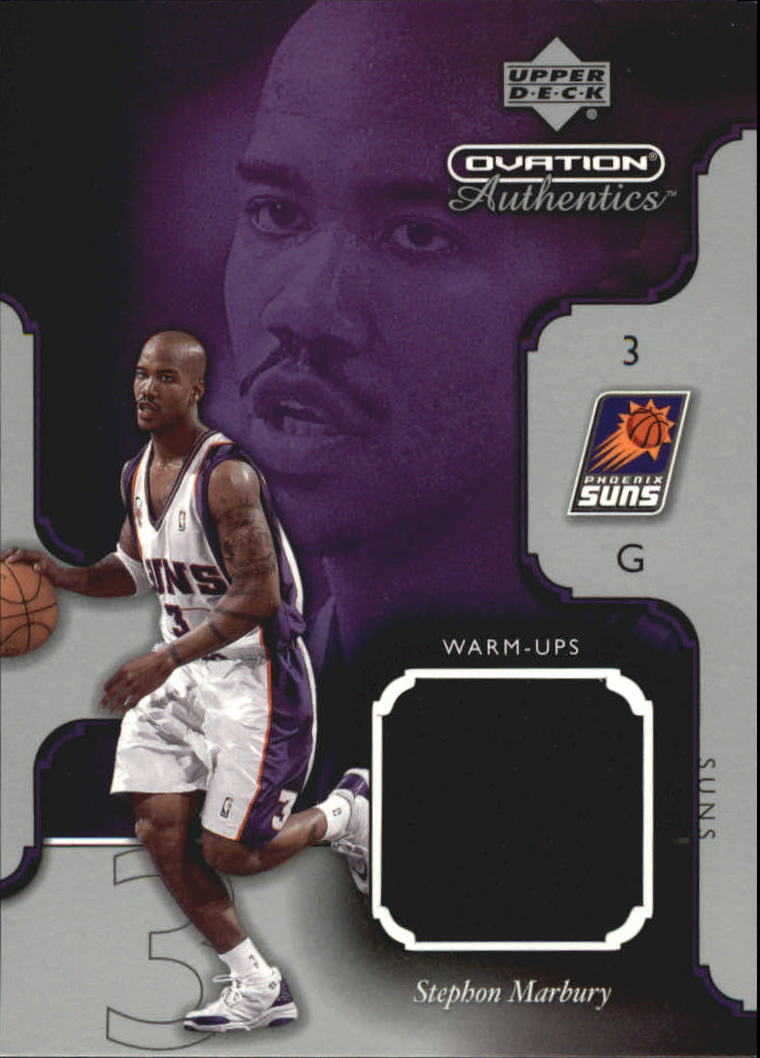 2002-03 Upper Deck Ovation Authentics Warm-Ups #SMW Stephon Marbury