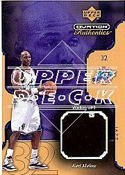 2002-03 Upper Deck Ovation Authentics Warm-Ups Gold #MAW Karl Malone