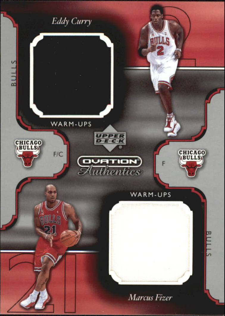 2002-03 Upper Deck Ovation Authentics Warm-Ups Dual #EC/MF Eddy Curry/Marcus Fizer