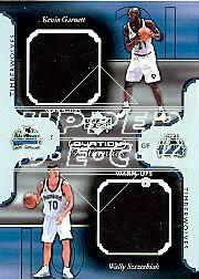 2002-03 Upper Deck Ovation Authentics Warm-Ups Dual #KG/WS Kevin Garnett/Wally Szczerbiak